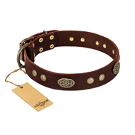 Perfect Leather Dog Collar 'Old-fashioned Glamor'