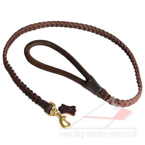 heavy duty braided dog leash buy UK