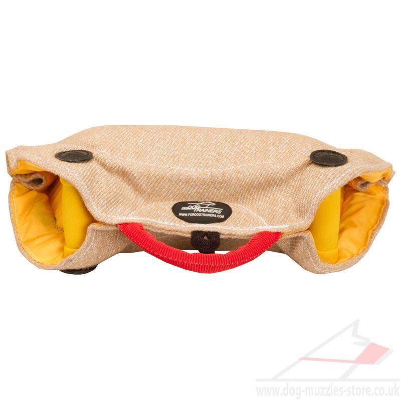 jute bite pillow for puppy training jute bite wedge 57 00
