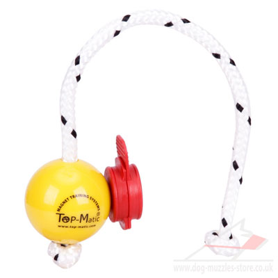 New TOP MATIC Fun Ball with Red Clips | Magnetic Dog Ball 5.8 cm - Click Image to Close