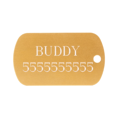 Stylish and Helpful Metal Plate Dog Tag