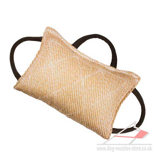 Dog Bite Pad Jute with 3 Handles | Dog Training Bite Pillow