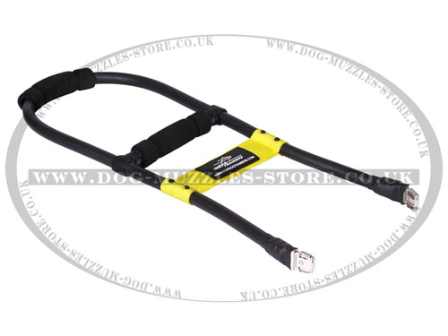 Detachable Service Dog Harness Handle with Rubber Inserts