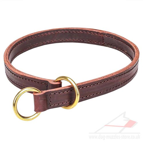 "Excellent Choke Collar for Dogs ""Obedient Canines"" 1 inch - Click Image to Close"