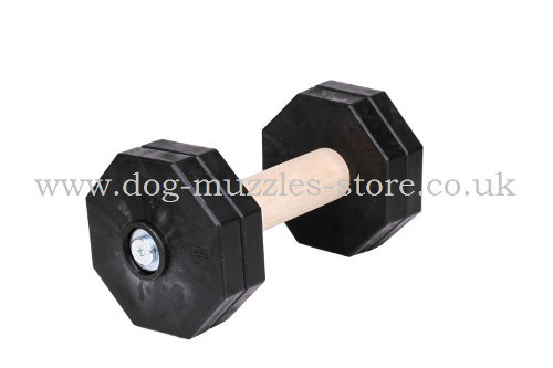 Schutzhund Dumbbell for Dogs with Adjustable Weights, 2.2 lbs