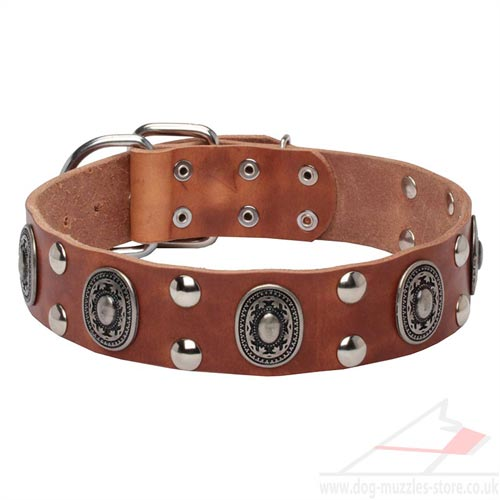 Real Leather Dog Collars, Superior Quality, Vintage Viking Style