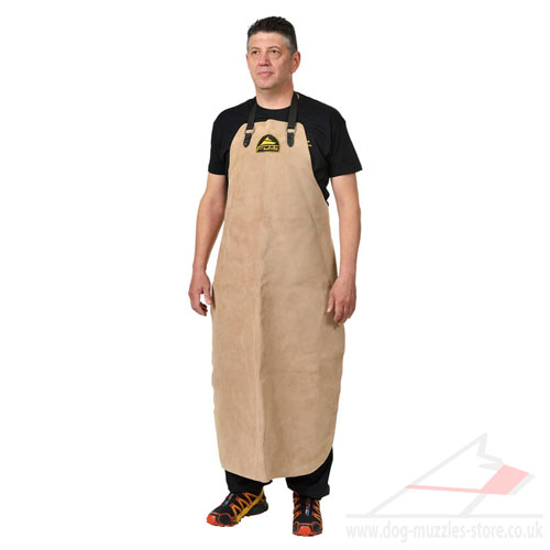 Thick Leather Dog Training Apron with Groin Protector Add-on
