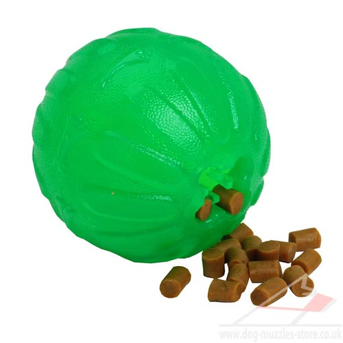 Durable Dog Chew Ball Treat Dispenser for Medium and Large Dogs