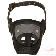 Leather Dog Muzzle with Nylon | Agitiation Dog Muzzle for GSD