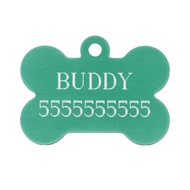 Personalized Dog Bone Name Tag with Engraved ID