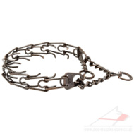 Steel Dog Collar Copper Plated | Prong Dog Collar UK