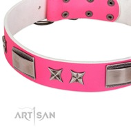 "Designer Cute Girly Dog Collar 1.5"" Wide by FDT Artisan"