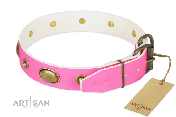girly large dog collar strong buckle