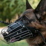 Padded Basket Dog Muzzle for German Shepherd, All Round Lining