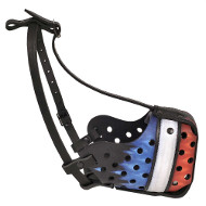 Designer Painted Dog Muzzle for K9 and Security