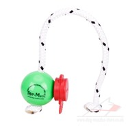 Green Magnetic Dog Ball on Rope with MAXI Power Clip