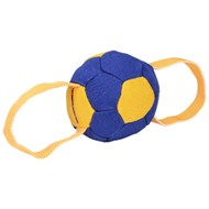 Soccer Ball Dog Toy Tug with Handles for Training and Games