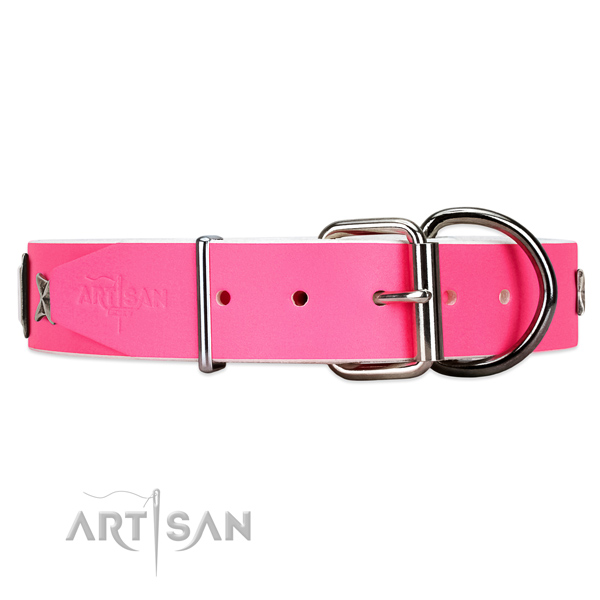 soft leather dog collar FDT Artisan