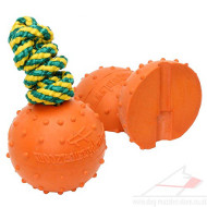 Rubber Ball for Water Games | Non Sinking Rubber Dog Ball 2.8""