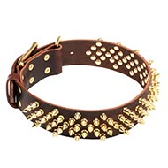 Flashing Spiked Dogs Collars - NEW Fabulous Design!