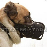 Strong&Big Shepherd Muzzle, Closed Basket for Maximum Protection
