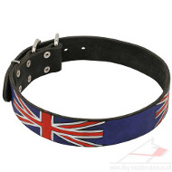 NEW 2014 Union Jack Painted Dog Collar for Dog Style and Comfort