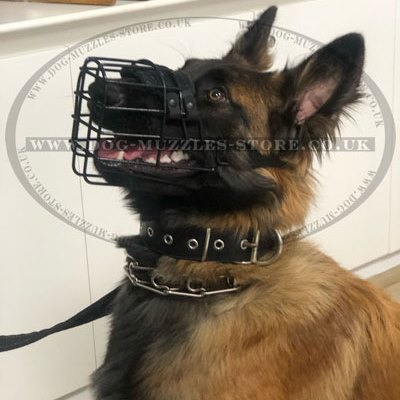 Basket Dog Muzzle Rubber Covered | Dog Winter Muzzle Bestseller