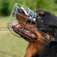 Wire Dog Basket Dog Muzzle for Rottweiler, Soft Padded
